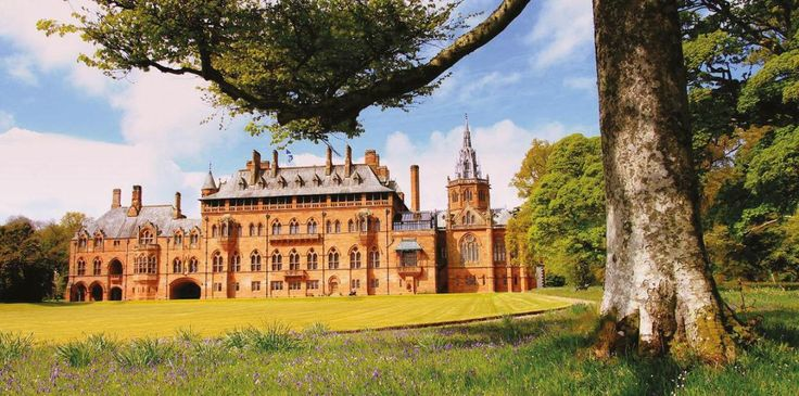 Mount Stuart House near Glasgow, UK. 19th-century mansion with extravagant interiors and expansive landscaped and wild gardens built on Bute island.