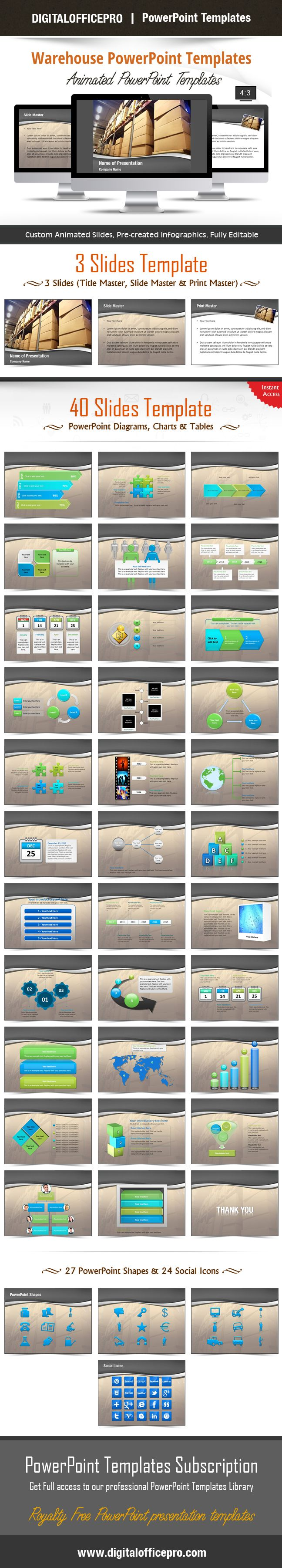 3316 best powerpoint templates images on pinterest role models impress and engage your audience with warehouse powerpoint template and warehouse powerpoint backgrounds from digitalofficepro toneelgroepblik Gallery