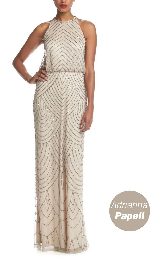 The Adrianna Papell® Beaded Gown is a simple yet stunning statement for your bridal party.