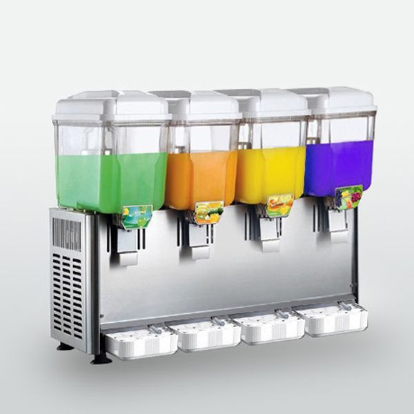 chinacoal03 Wholesale 4 Tanks Electric Automatic Commercial Fruit Juice Dispenser Wholesale 4 Tanks Electric Automatic Commercial Fruit Juice Dispenser Introduction  1. Single cold or both cold and heat model Juice Dispenser for your choose. 2. High quality compressor, Automatic control, Super strong and nonpoisonous tank, Acid, alkali and low temp
