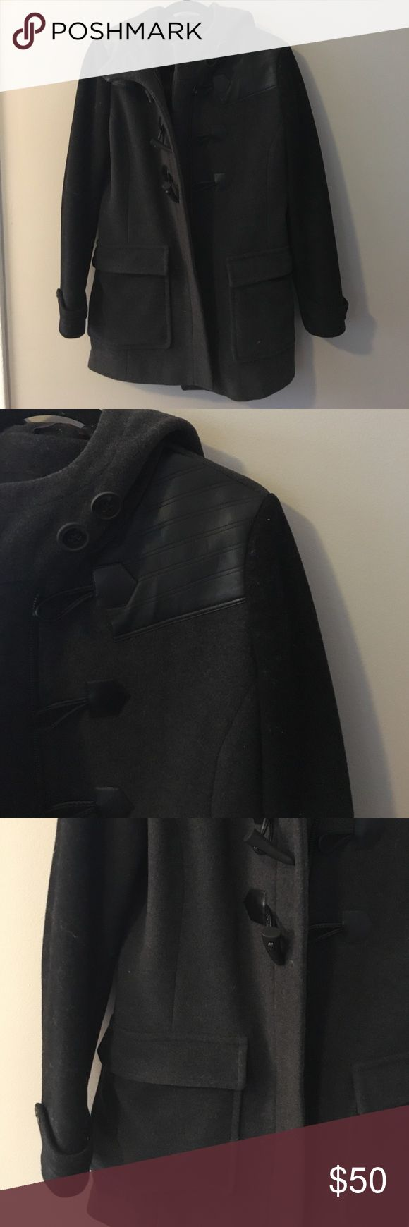Andrew Marc Coat Selling this size 6 gray and black Andrew Marc winter coat. Worn multiple times but still in great condition! Andrew Marc Jackets & Coats Pea Coats