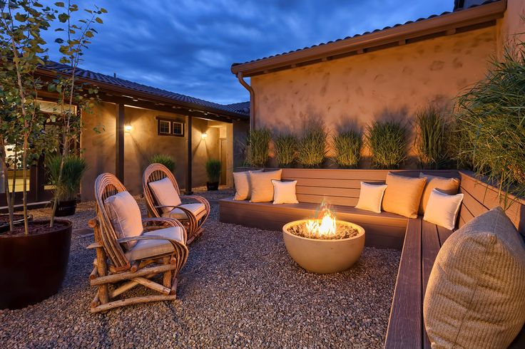 Splashy landmann fire pit in Patio Southwestern with Home Architecture Design next to Interior Courtyard House Plans alongside Build Natural Gas Fire Pit and Backyard Fire Pit Ideas