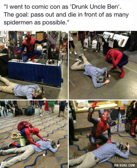 LOL. One way to get involved in comic con