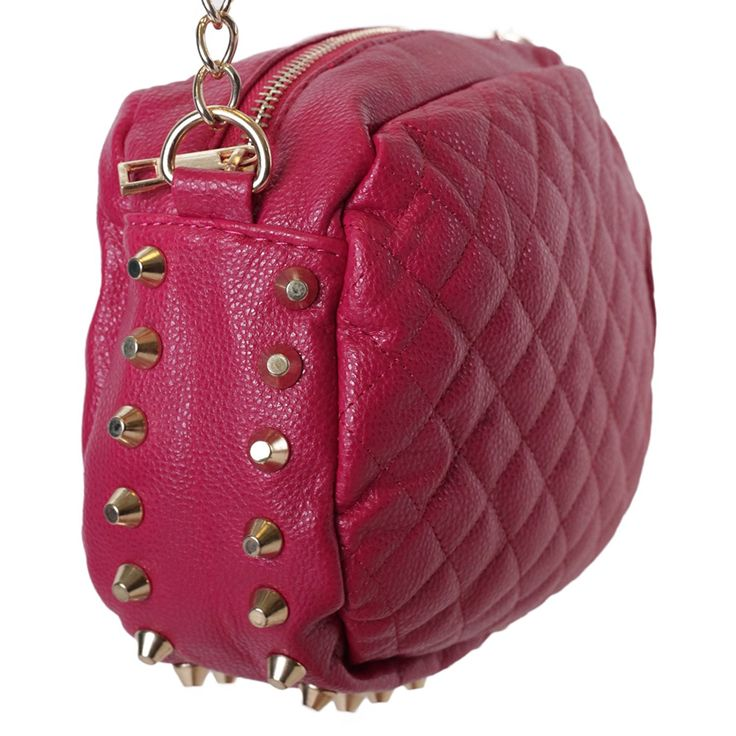 Women's Oval Quilted Crossbody Chain Strap Purse Bag w/ Gold Studs -- Unbelievable  item right here! : Shoulder Handbags