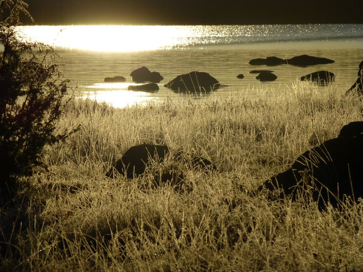 Tidig kall morgon på Vålnäsberget Trödje