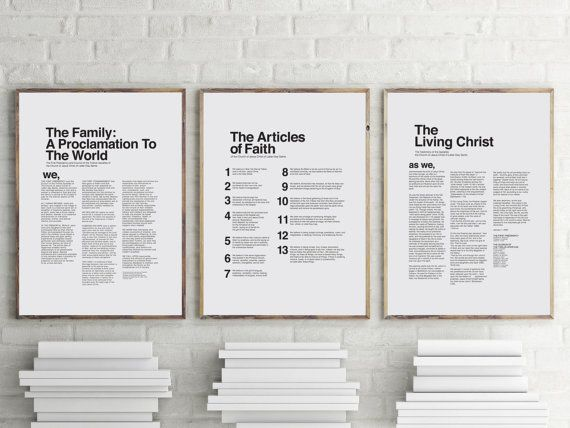 18 x 24 THREE PACK LDS Modern Proclamation to the by uolidnam
