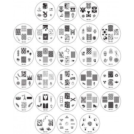 """2013 """"Create Your Own"""" Nail Stamping Plate Collection - This price cannot be beat for 25 excellent quality plates!  #bundlemonster, #shopbm"""