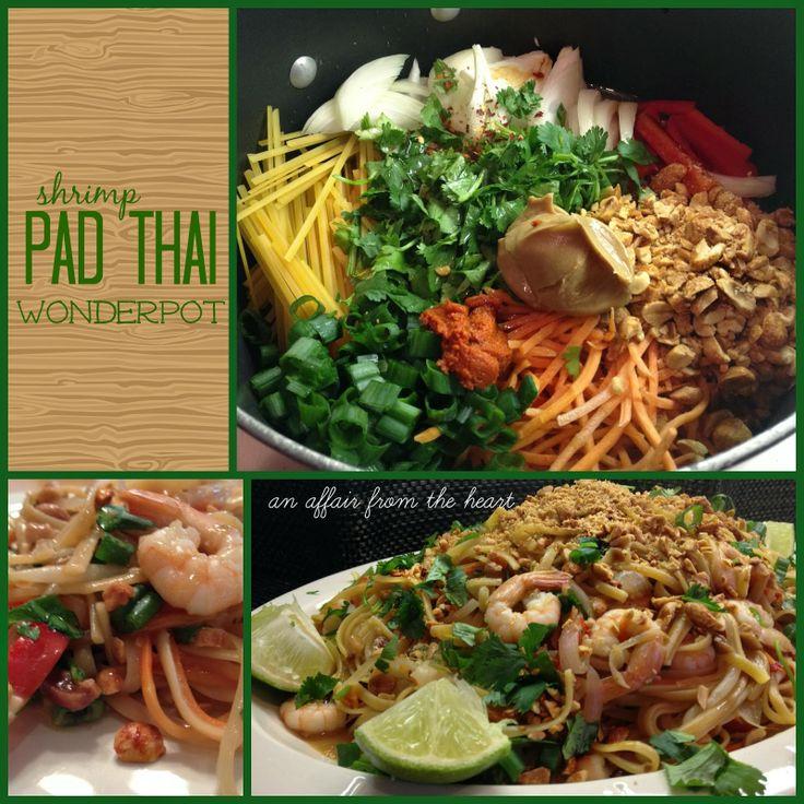an affair from the heart: Shrimp Pad Thai Wonder Pot #wonder pot #pad  thai