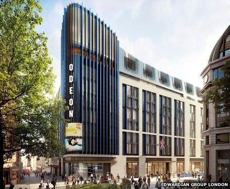 The Edwardian Group will replace the Odeon Cinema West End with a ten-storey block comprising a hotel, spa and a two-screen cinema.   Visual produced by Cityscape Digital.