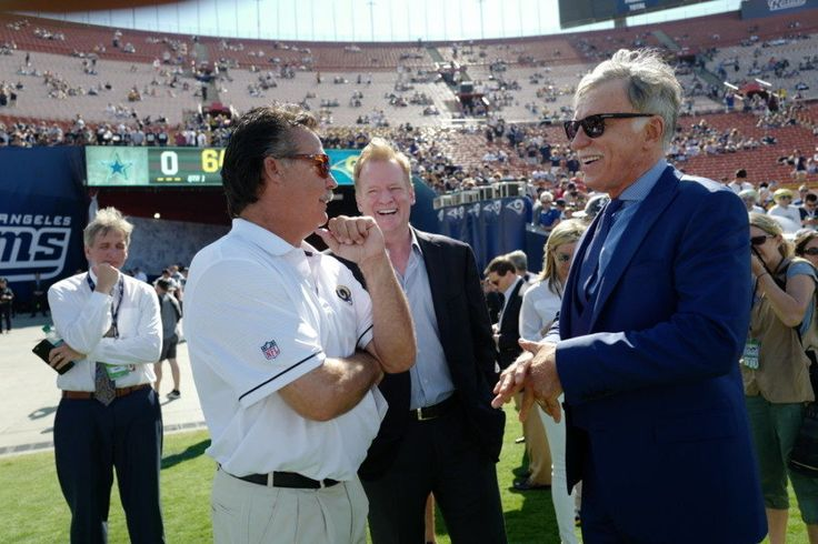 Rams officially break ground on new stadium in Inglewood = NFL Commissioner Roger Goodell and Los Angeles Rams' owner Stan Kroenke broke ground at 2 p.m. Eastern Time on Thursday to begin the construction of the team's new $2.5 billion stadium in Inglewood, California. Architects.....