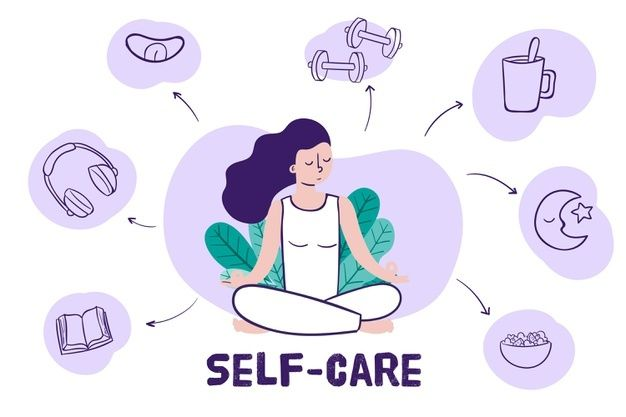 Self care concept   Free Vector #Freepik #freevector #love #woman #health #healthy Yoga Drawing, Health Communication, Faculty And Staff, Bad Mood, Relaxing Music, Stress And Anxiety, Stress Free, Take Care Of Yourself, Helping Others