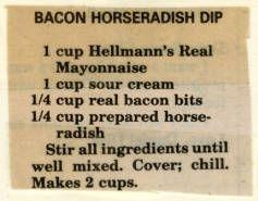 Bacon Horseradish Dip :: Historic Recipe