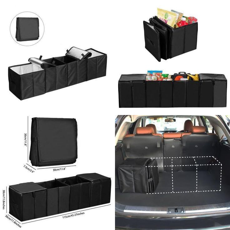 Car Trunk Organizer Collapsible Storage Container Foldable Multi 4 Compartments  #Cozyswan