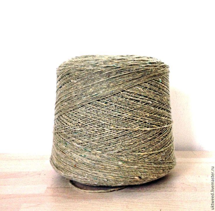 Купить Пряжа Меринос Твид (Soft Donegal Tweed) -100% меринос - оливковый, пряжа