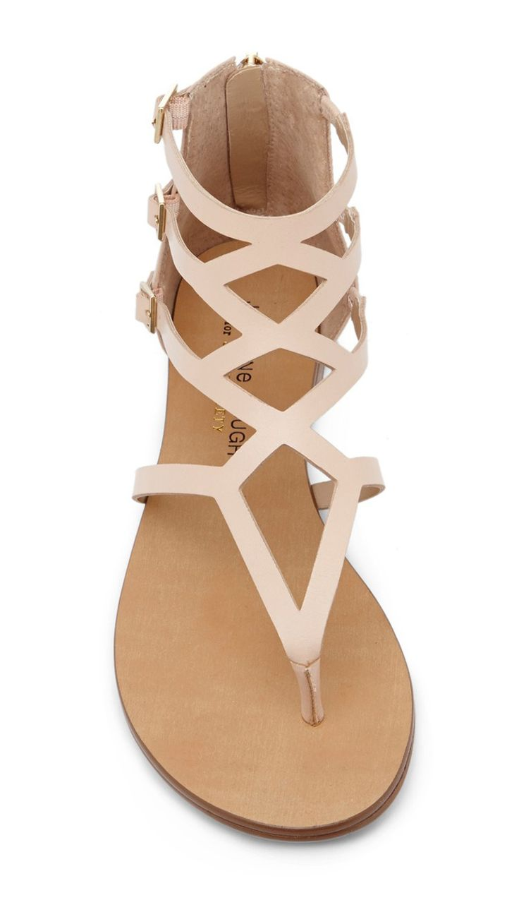 Blush cut out sandals