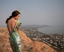Fashion shoot on Castle Hill to launch the Festival