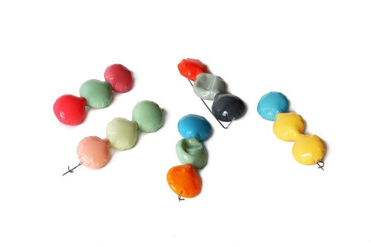 Josefine Mass - Bloon series - Brooches - Hollow bubbles - www.josefinemass.com