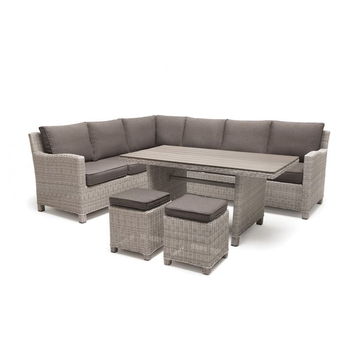 kettler palma corner set whitewash garden furniture casual dining - Garden Furniture Kettler