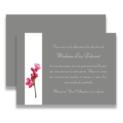 59 best carte remerciement de deuil images on pinterest carte de deuil carte remerciement et. Black Bedroom Furniture Sets. Home Design Ideas