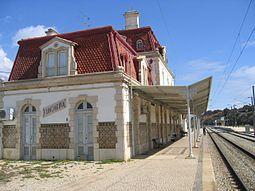 Estação Ferroviária de / Railway Station of Funcheira   1914 #Azulejo
