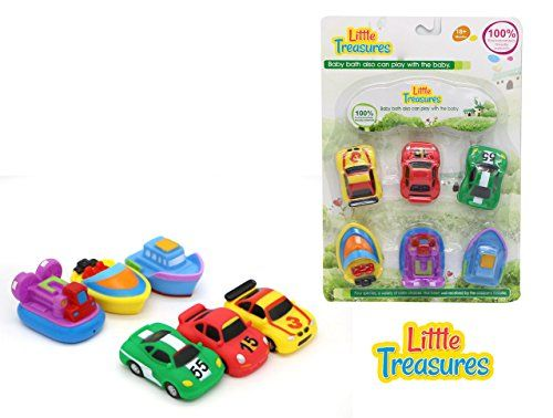 Little Treasures Bathtub Toys For Kids Bathtime Bath toys Vehicles And Boats 6 Pack -- Want additional info? Click on the image.-It is an affiliate link to Amazon.