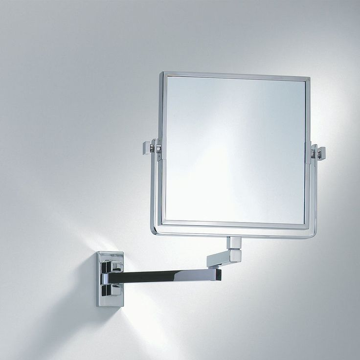 Decor Walther Wall Mounted Square Extendable Mirror #bathroomaccessories #bathrooms #luxurybathrooms