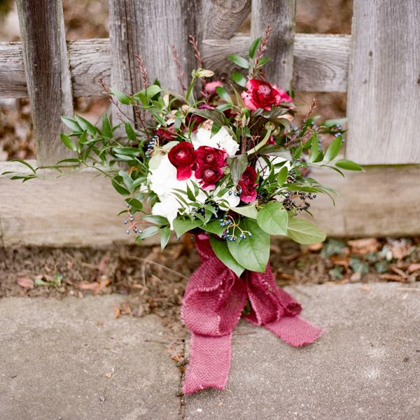 deep red wedding bouquet // Mimi Nicole Events, photo by Ed Osrborn