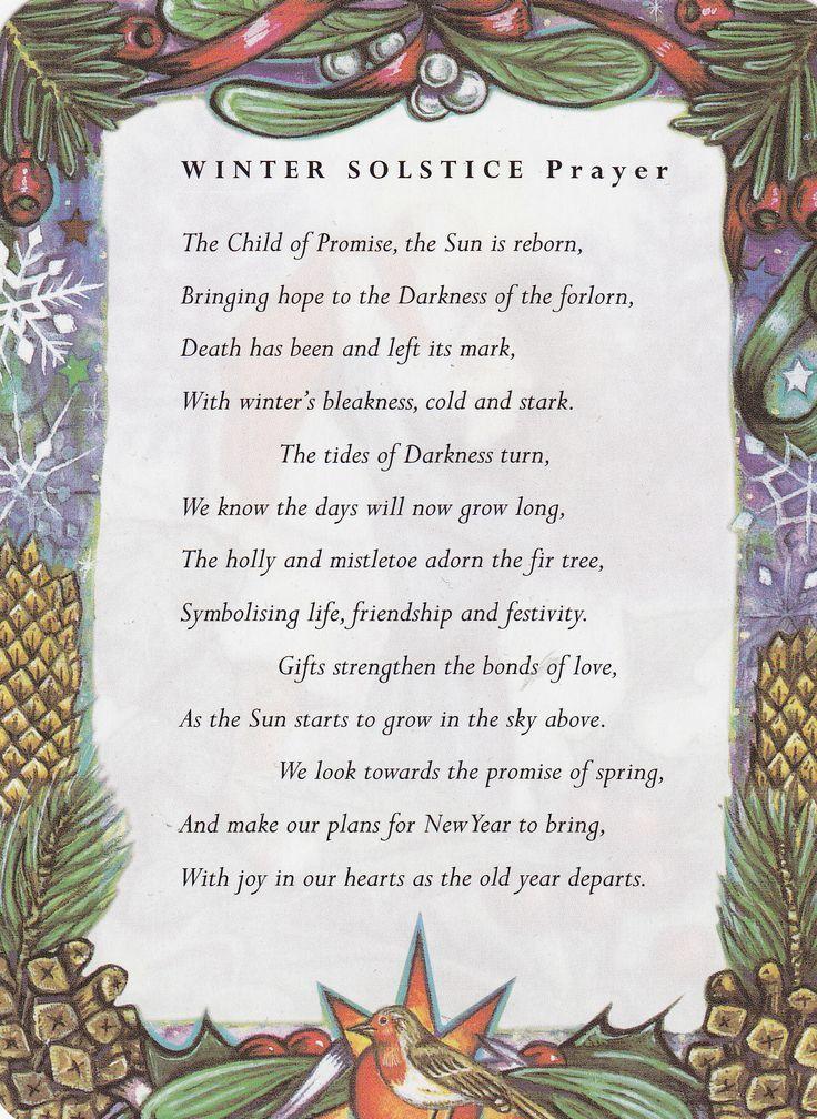 Winter Solstice Prayer   Winter solstice---a Bridge to New Beginnings.   elephant journal