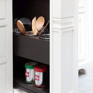 Hidden Kitchen Storage, Transitional, kitchen, Atlanta Homes & Lifestyles