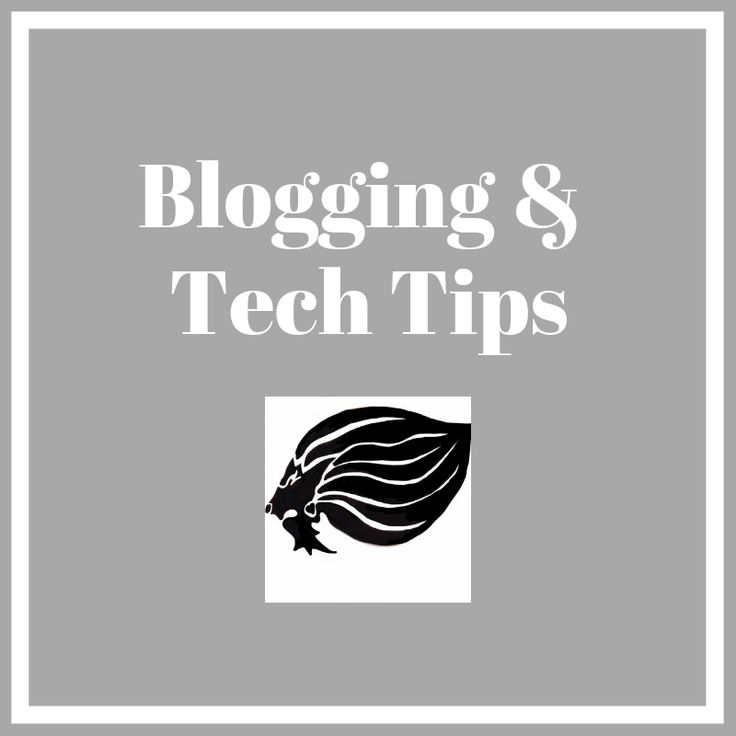 Blogging and Tech Tips - cover