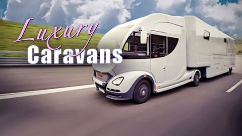 The most incredible luxury caravans on the road have to be seen to be believed..