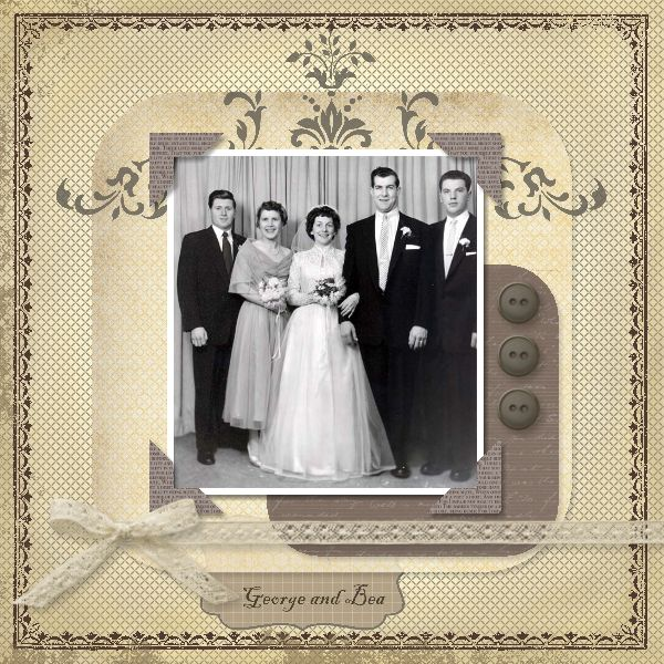 A Little Scrapbook Therapy  Vintage Heritage scrapbook layout of my  Grandparent s wedding in theBest 25  Vintage scrapbook ideas on Pinterest   Scrap books  Love  . Premade Wedding Scrapbook. Home Design Ideas