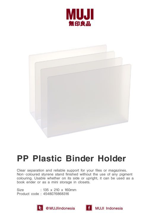 PP Plastic Binder Holder - Clear separation and reliable support for your files or magazines.