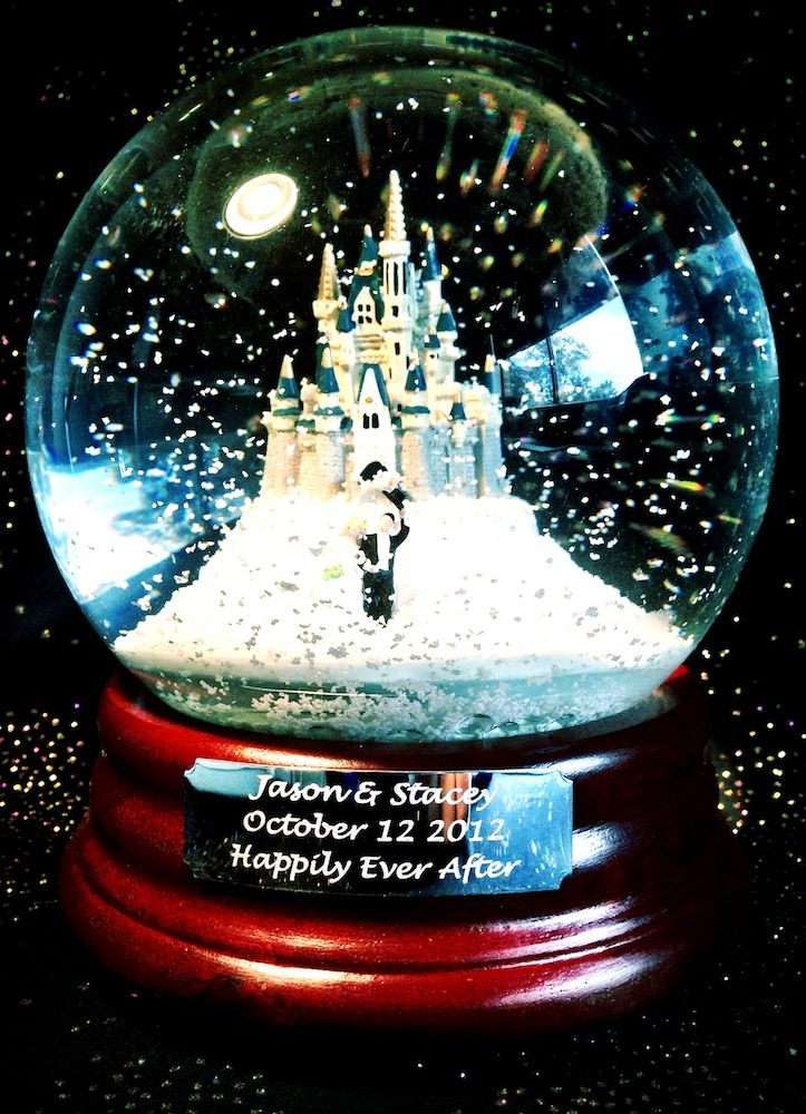 """""""Happily Ever After"""" Custom Snow Globe from www.queenofsnowglobes.com"""