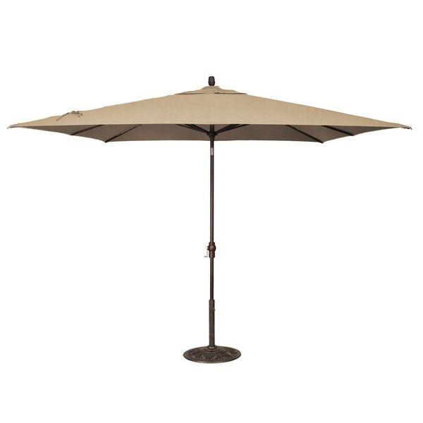 X Market Umbrella   Heather Beige