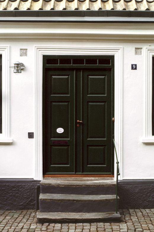 Liker denne døren som dobbel ytterdør hvor man også får lys inn fra vinduene over.