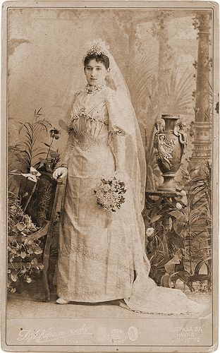 A Beautiful Bride c. 1890 - because June is the month for brides and because I…