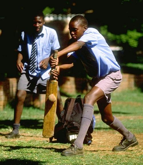 Children Playing Cricket In Zimbabwe