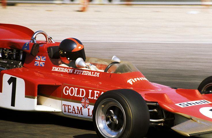 Emerson Fittipaldi, LotusFord 72D, 1971 French GP, Le