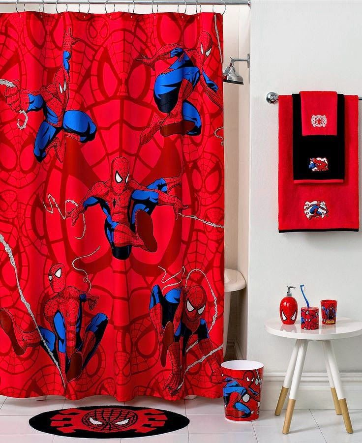 Curtain Ideas  Bed bath beyond marvel spiderman shower curtain 49 best Bathroom curtains images on Pinterest