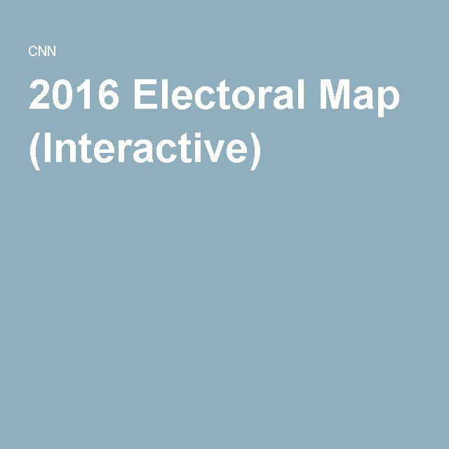 2016 Electoral Map Interactive