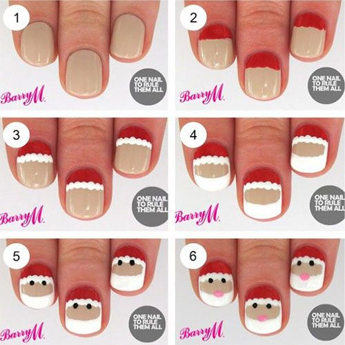 Easy Christmas Nail Art Step By Step: 17 Best Ideas About Simple Christmas Nails On Pinterest