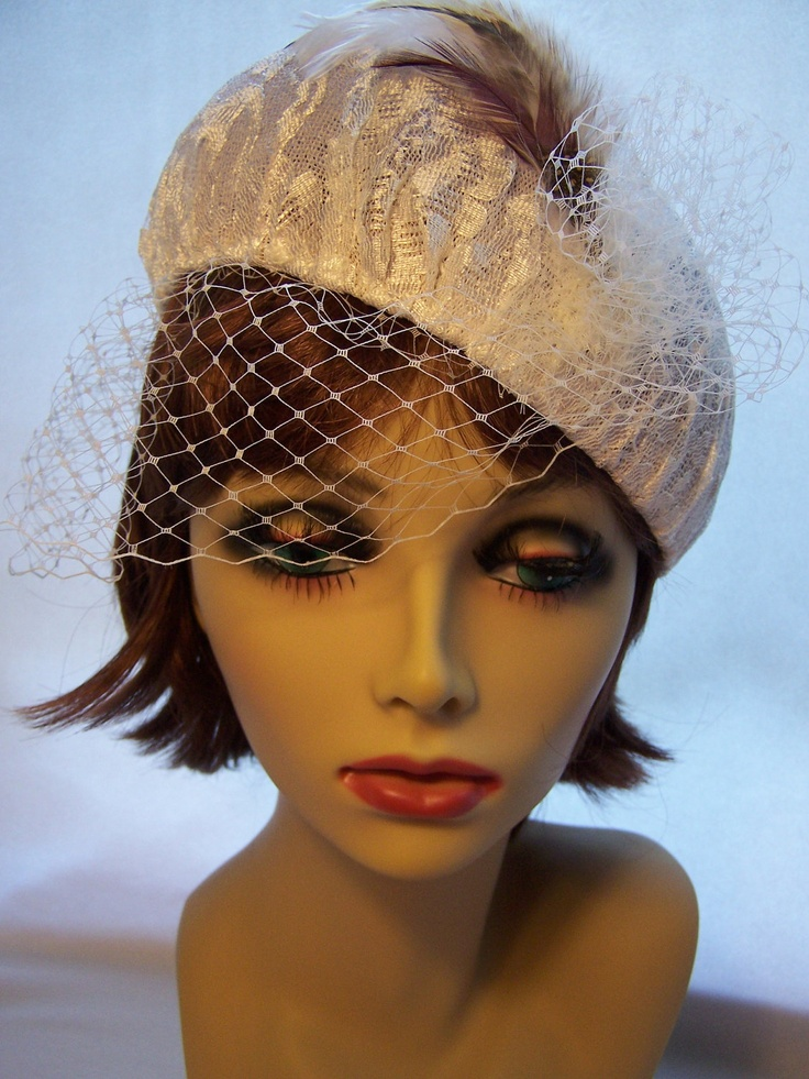 White Lace Beret / pillbox. $65.00, via Etsy.