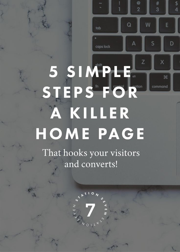 5 Simple Steps to a Killer Home Page: Your home page is the first thing a new client or customer will see that shows off who you are, what you're offering, and your brand's vibe. It's your chance to capture their attention, build credibility, and eventually lead them to buy from you! It might sound intimidating, but with careful planning and design you can create an epic home page that drives new customers and readers to you.