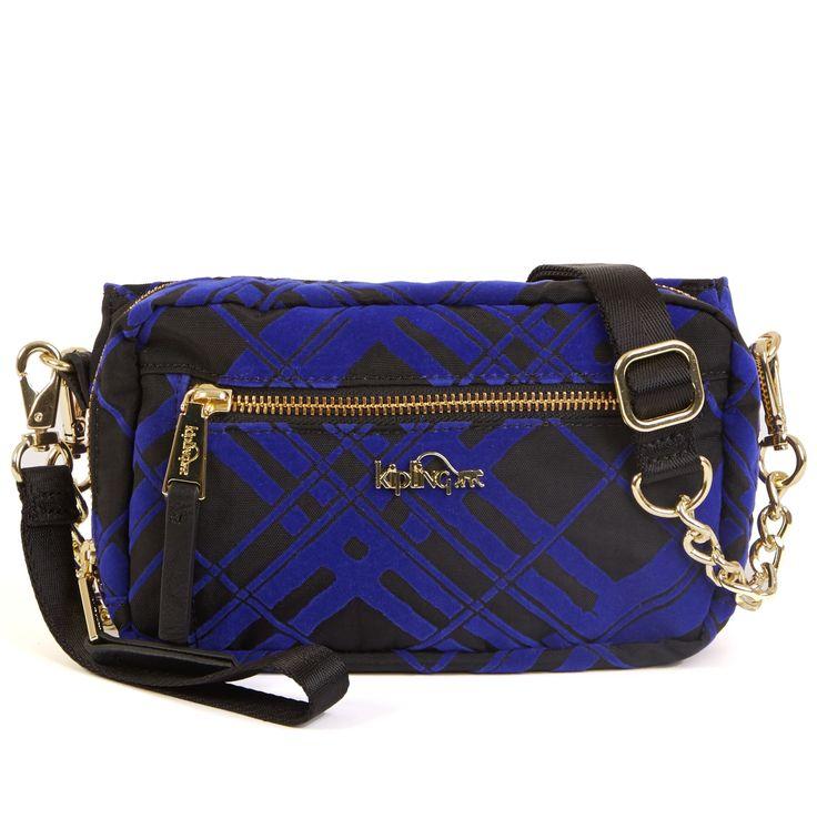 Linlee Crossbody Handbag - Bright Sapphire Painted Plaid | Kipling