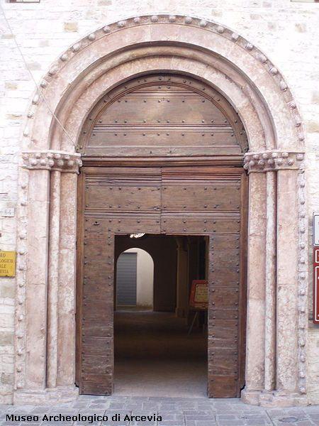 Portal of St Francis church - Arcevia - Marche - Italy