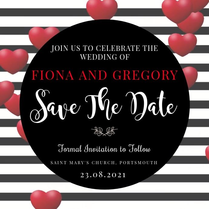 Save The Date Video Invitation Template In 2020 Wedding Invitation Templates Save The Date Video Wedding Invitations
