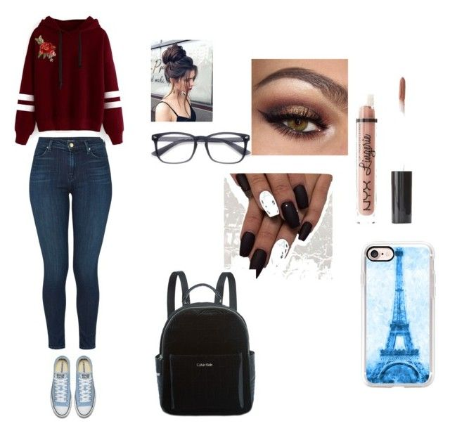 """Lazy Day at the mall"" by rheana2005 on Polyvore featuring J Brand, Charlotte Russe, EyeBuyDirect.com, Casetify, Calvin Klein and WithChic"
