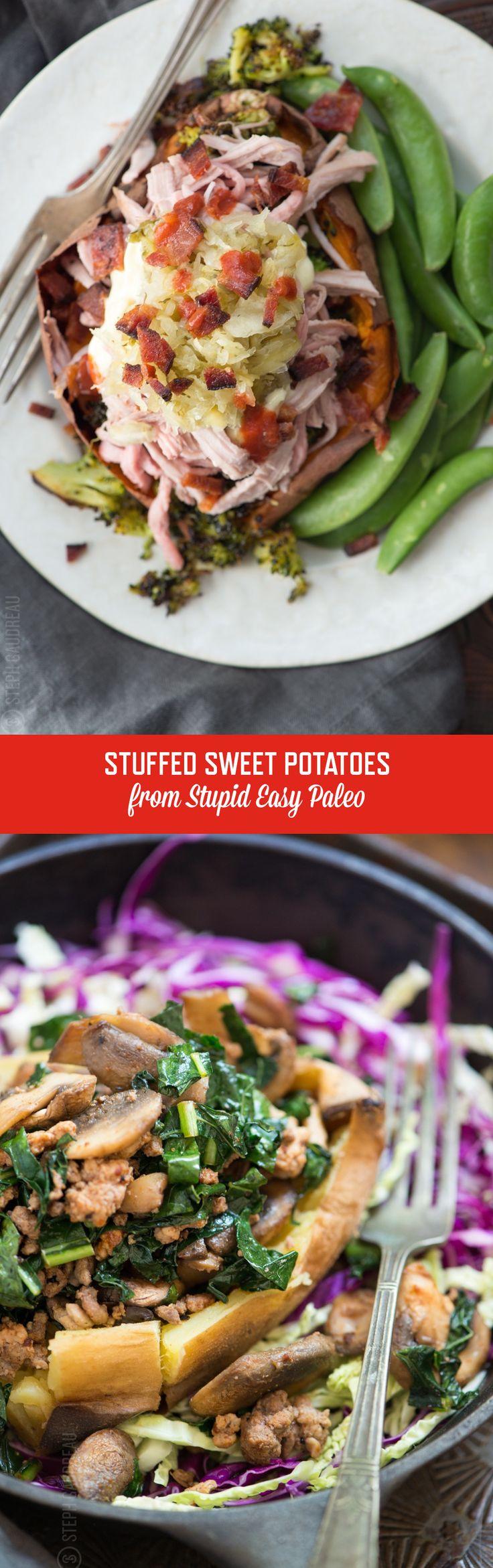 Stuffed Sweet Potato Recipe | StupidEasyPaleo.com