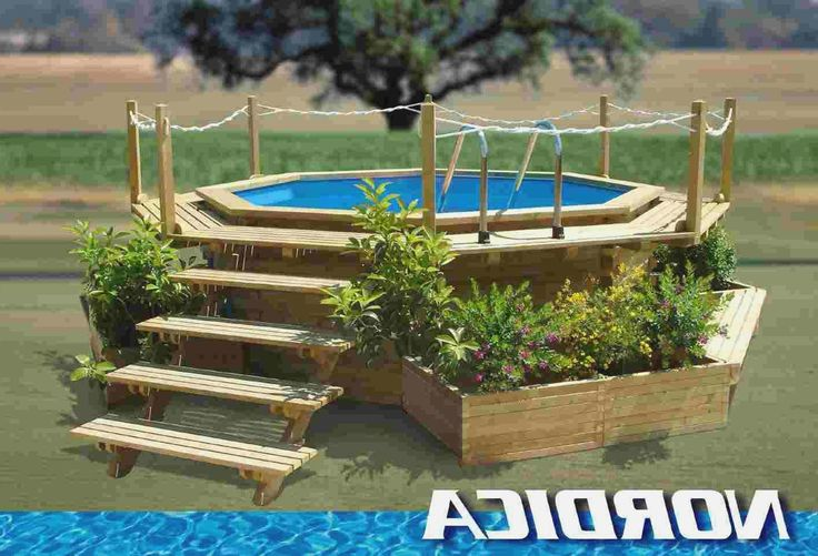 Small backyard above ground pools more picture small - Above ground pools for small backyards ...